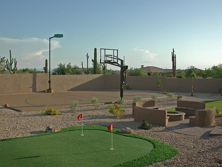 sport court, putting green, fire pit