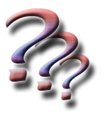 image of three colorful questions marks