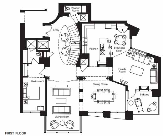 Floor plan image for Condos for Sale in Tempe AZ at Bridgeview