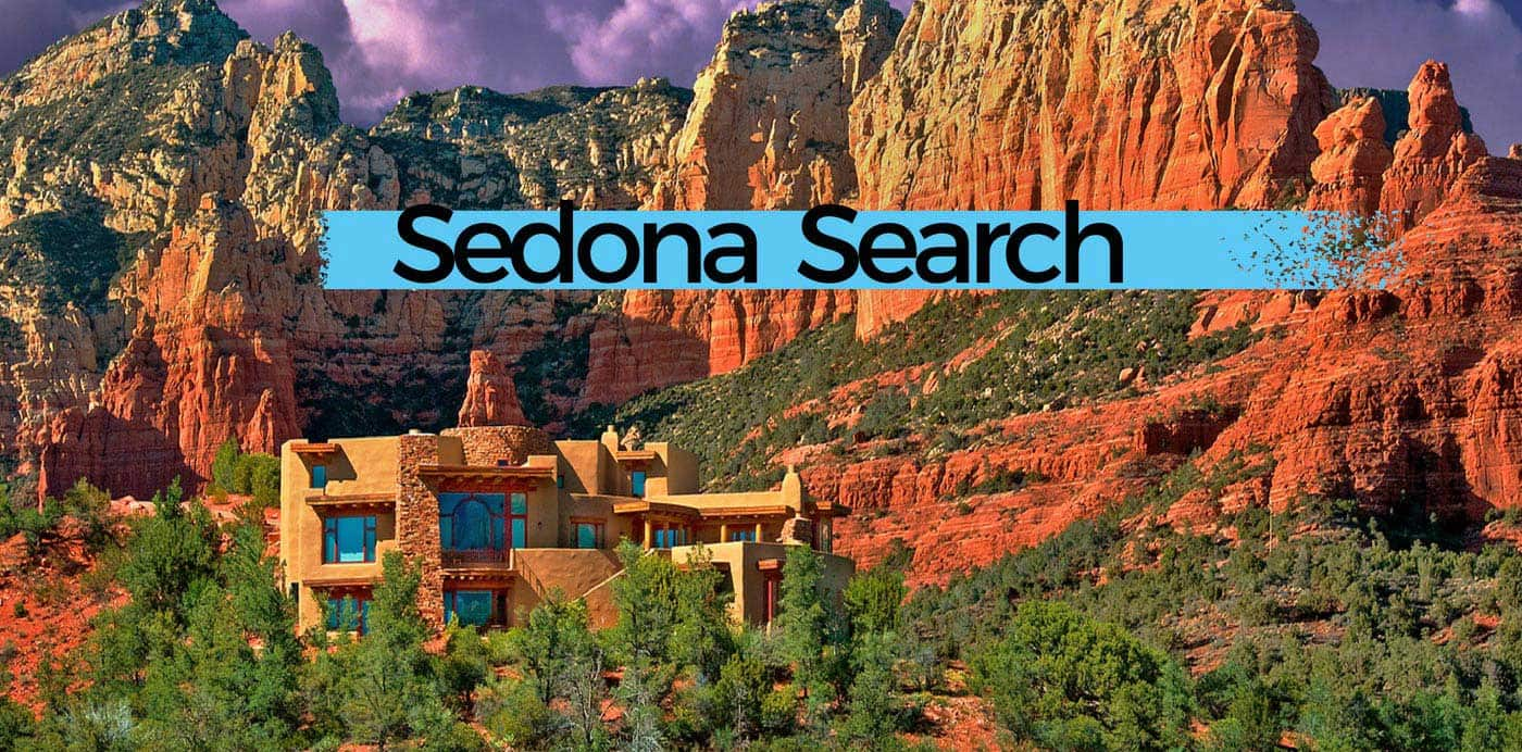 homes in Sedona with mountains in the background