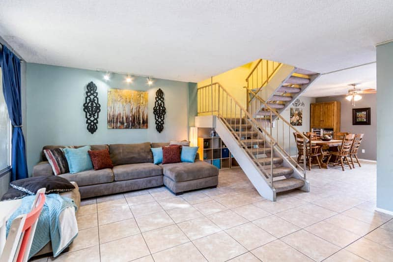 living room for Tempe townhome for sale
