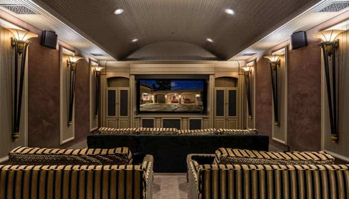 image of home theater in luxury home